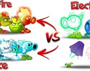 Plants vs Zombies 2 Fire and Ice plants vs Electric Plants Challenge – The winner is – Check it Now