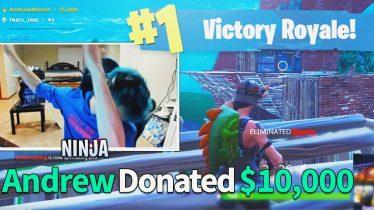 Donating $10,000 To Fortnite Streamers If They Win (Ninja)