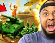 KEVIN vs 1000 TOY ARMY SOLDIERS   Attack on Toys